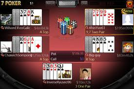 Example of 7 Card Stud being played online
