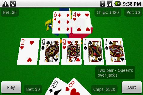Poker card hand calculator